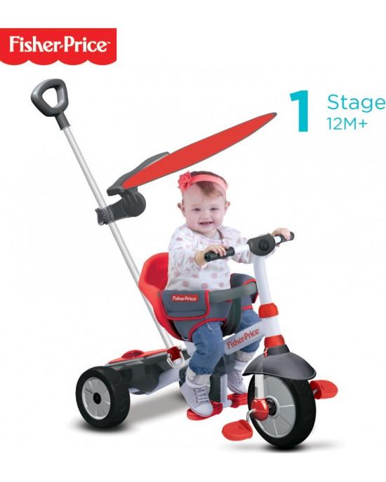 Παιδικό Τρίκυκλο Fisher Price Charm Plus 3 Σε 1 Κόκκινο - 3250533