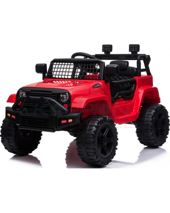 Παιδικό Αυτοκίνητο Skorpion Jeep Wrangler Style 12V Κόκκινο - 5246091