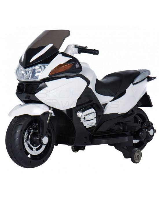 Παιδική Μηχανή Skorpion 12V BMW R1200 RT Style Λευκή Για Δύο Παιδιά - 5245018