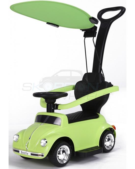 Περπατούρα Αυτοκινητάκι Skorpion Με Λαβή Γονέα Και Τέντα VW Beetle Πράσινο- 5244018