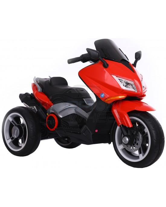 Παιδική Μηχανή Skorpion 12V Yamaha T-MAX Style Κόκκινη Με 3 Ρόδες - 5245090