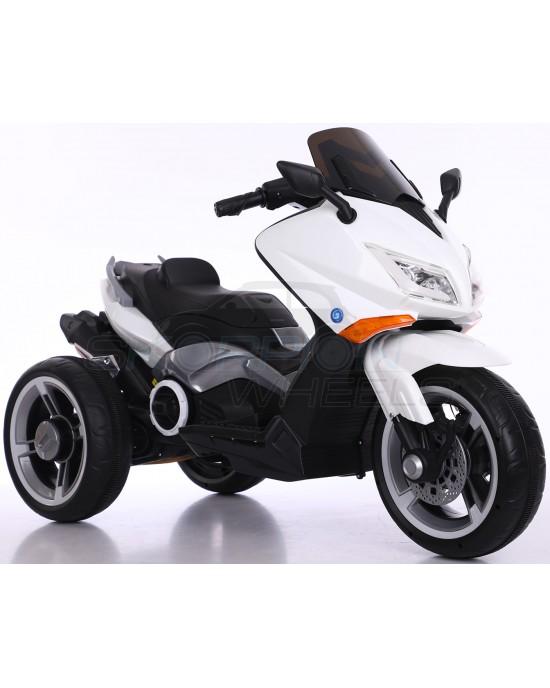 Παιδική Μηχανή Skorpion 12V Yamaha T-MAX Style Λευκή Με 3 Ρόδες - 5245090