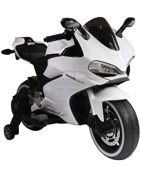 Παιδική Μηχανή Skorpion 12V Ducati 1199 Panigale S Style Λευκή - 5245016