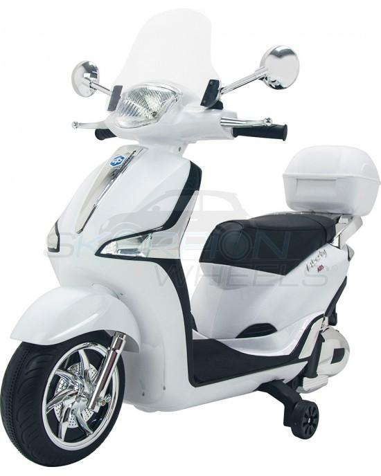 Παιδική Μηχανή Skorpion 12V Piaggio Liberty Original Λευκή - 52450961