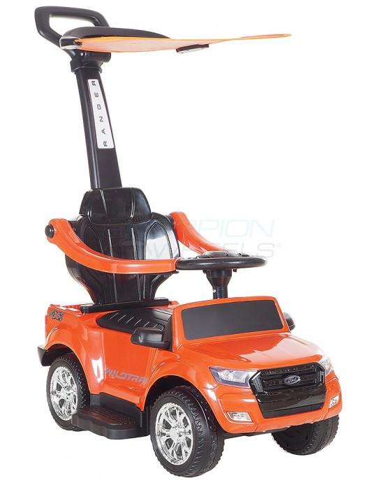 Περπατούρα Αυτοκινητάκι Skorpion Με Λαβή Γονέα Και Τέντα Ford Πορτοκαλί - 5244003