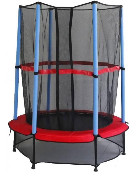 Παιδικό Τραμπολίνο Με Προστατευτικό Δίχτυ Skorpion Wheels Κόκκινο - 52854
